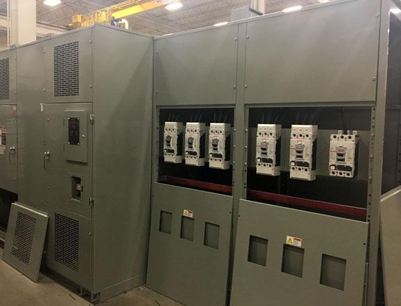 secondary air terminal chamber six circuit breakers