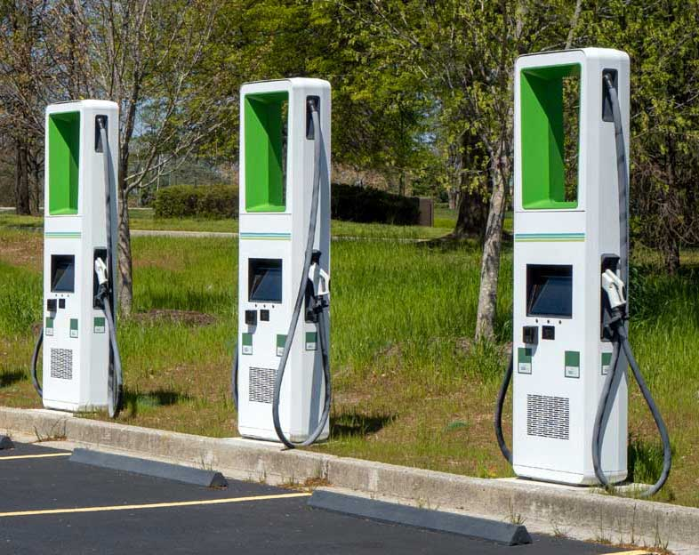 electric car vehicle charging station transformer